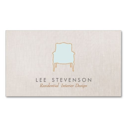 Interior Design French Chair Designer Business Card At Zazzle