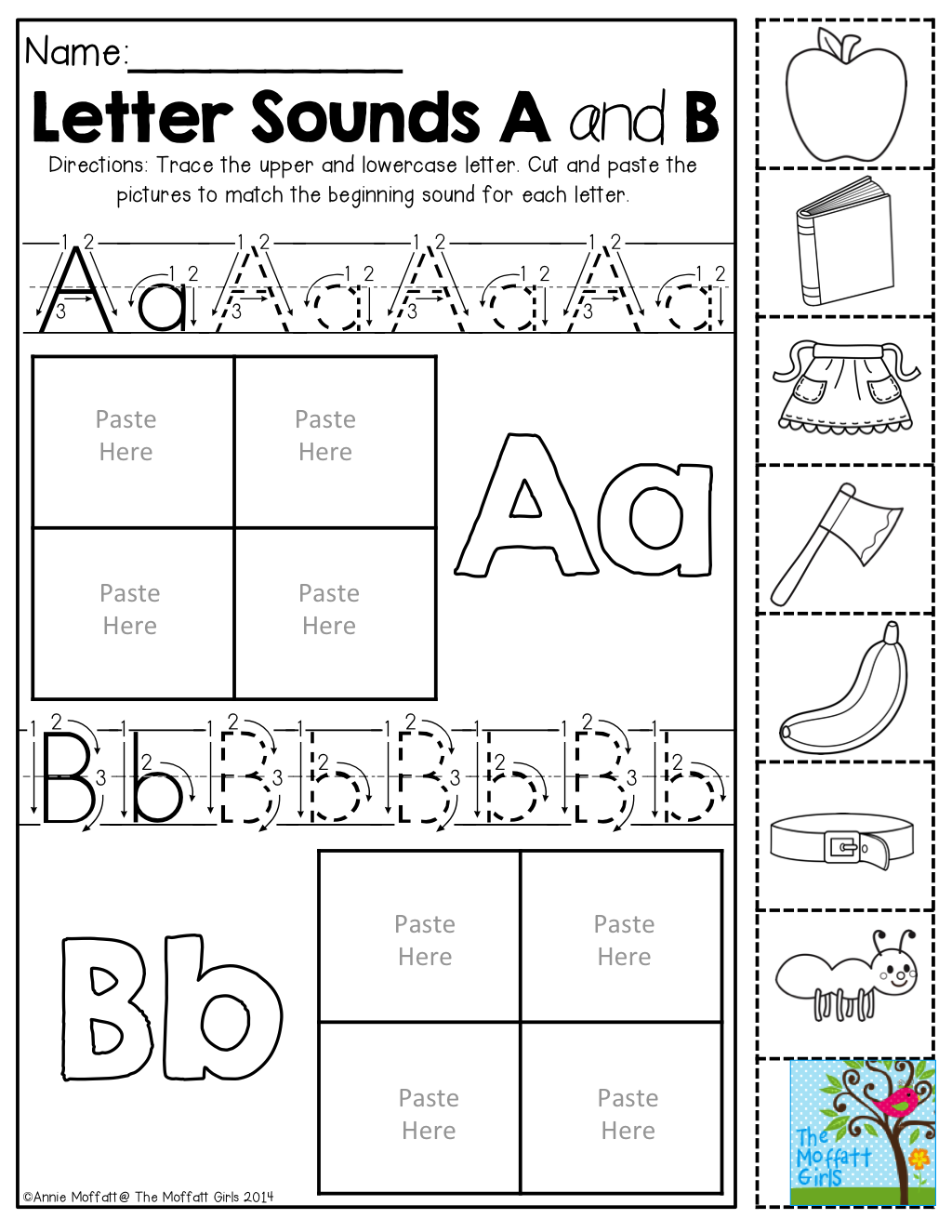 Beginning Sounds- Color, cut and paste! | Phonics | Pinterest | Kind ...