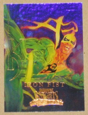 Marvel Masterpieces Set 3 (UDC 2008) Knights Chase Card MK 6 Iron Fist EX
