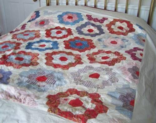 Antique Hand Stitched Cotton Durham Quilt Paisley Roses Patchwork Quilts Patchwork Quilts Patchwork