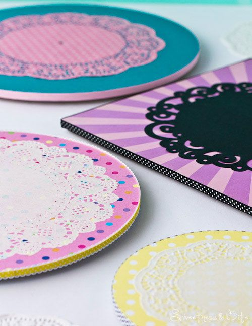 Cute Doily Cake Boards Tutorial Sweetness Amp Bite