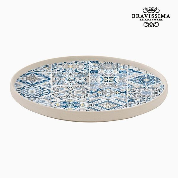 Flat Plate Porcelain Blue By Bravissima Kitchen Flat Plate
