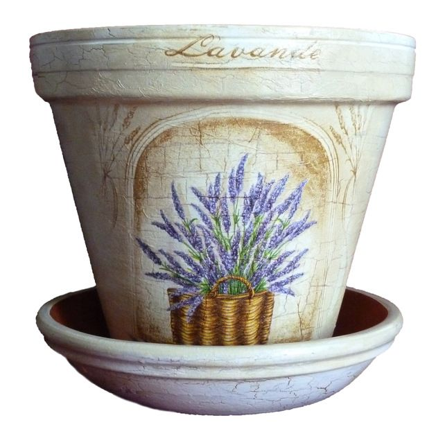 Shabby Chic Rose Vintage Hand Crafted Painted Gift Flower Pot Painted Flower Pots Flower Pots Clay Flower Pots