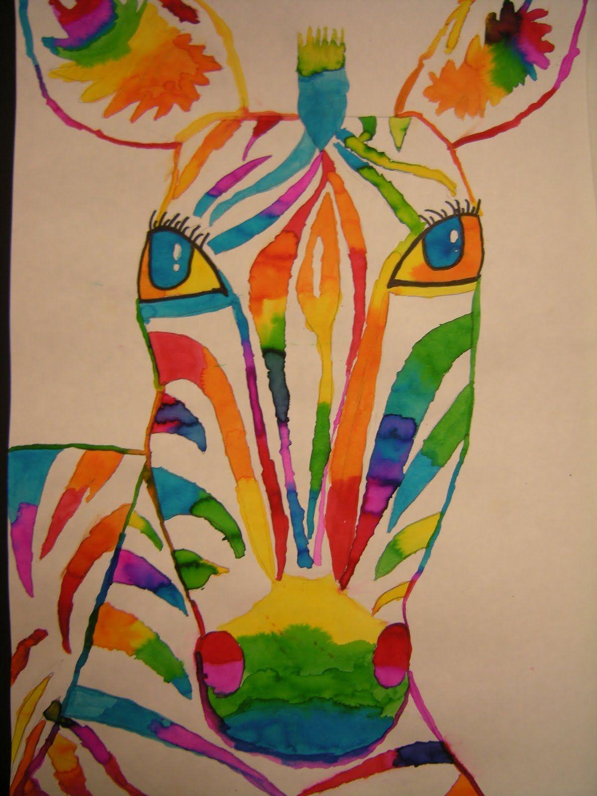 Liquid Watercolor Zebras Met Afbeeldingen Knutselen 5de