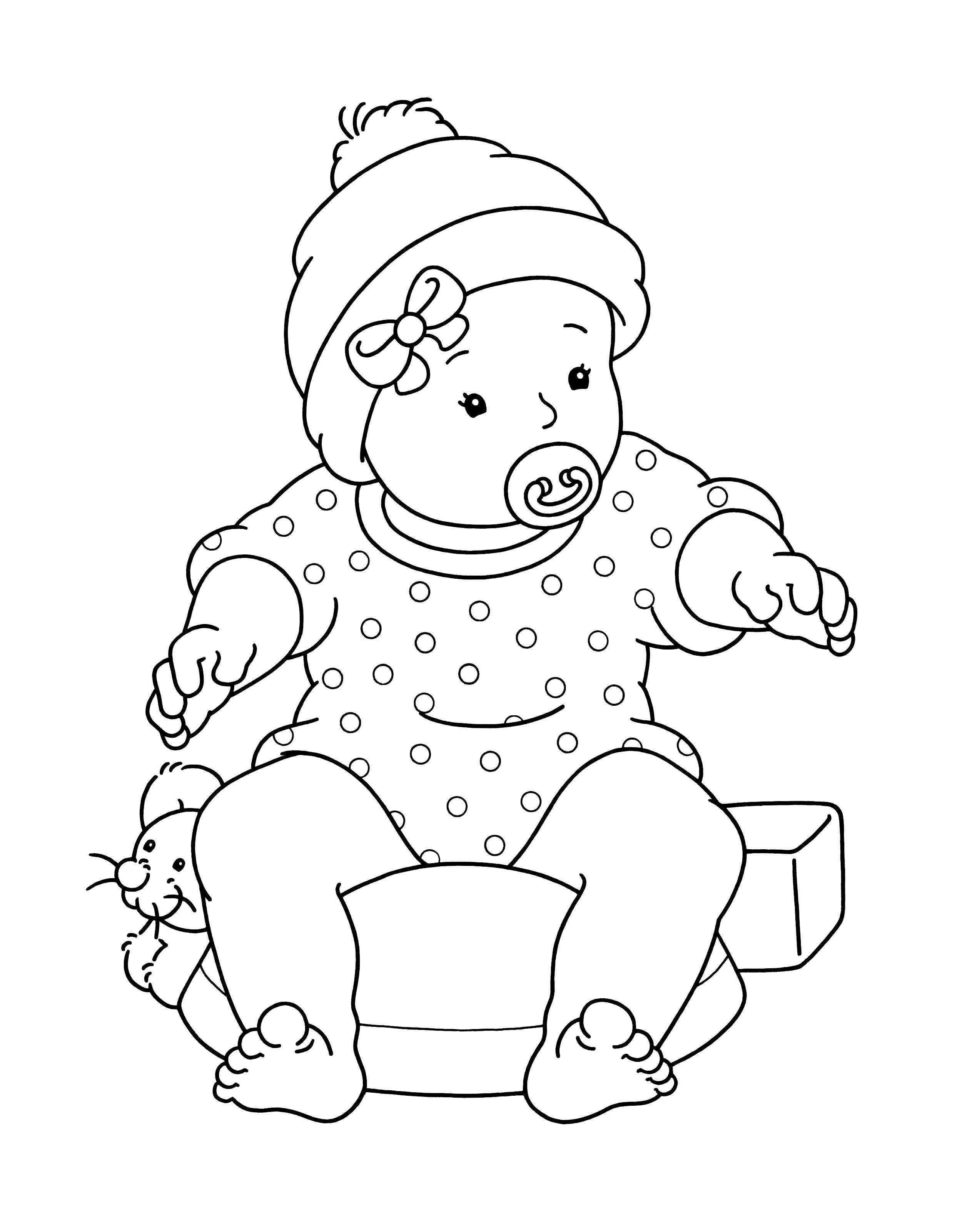 Kleurplaat Baby Kleurboek Kinderkleurplaten Dieren Kleurplaten