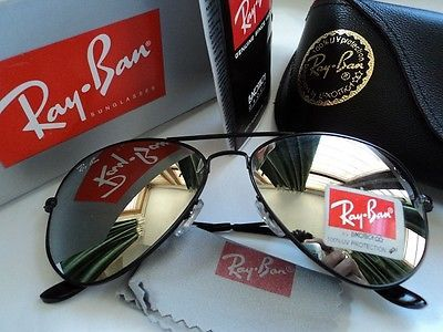 fe9b9de24d9fb ... best price ray ban aviator rb3025 black mirrored lens 211d9 b89be