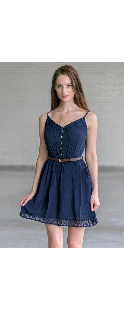e1bae3591 Lily Boutique Country Cutie Belted Button Front Dress in Navy, $15.0000  Belted Navy Sundress, Cute Navy Juniors Dress, Country Dress  www.lilyboutique.com