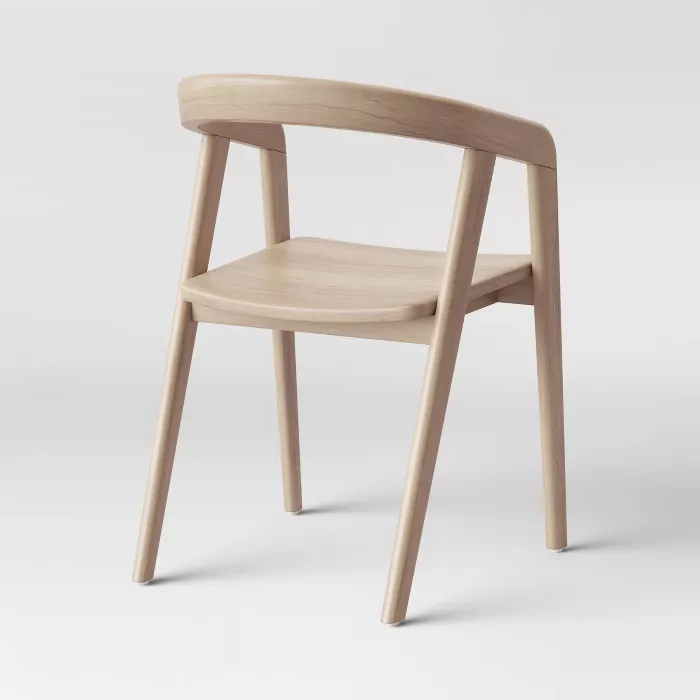 Lana Wood Armed Dining Chair Natural Project 62 In 2020