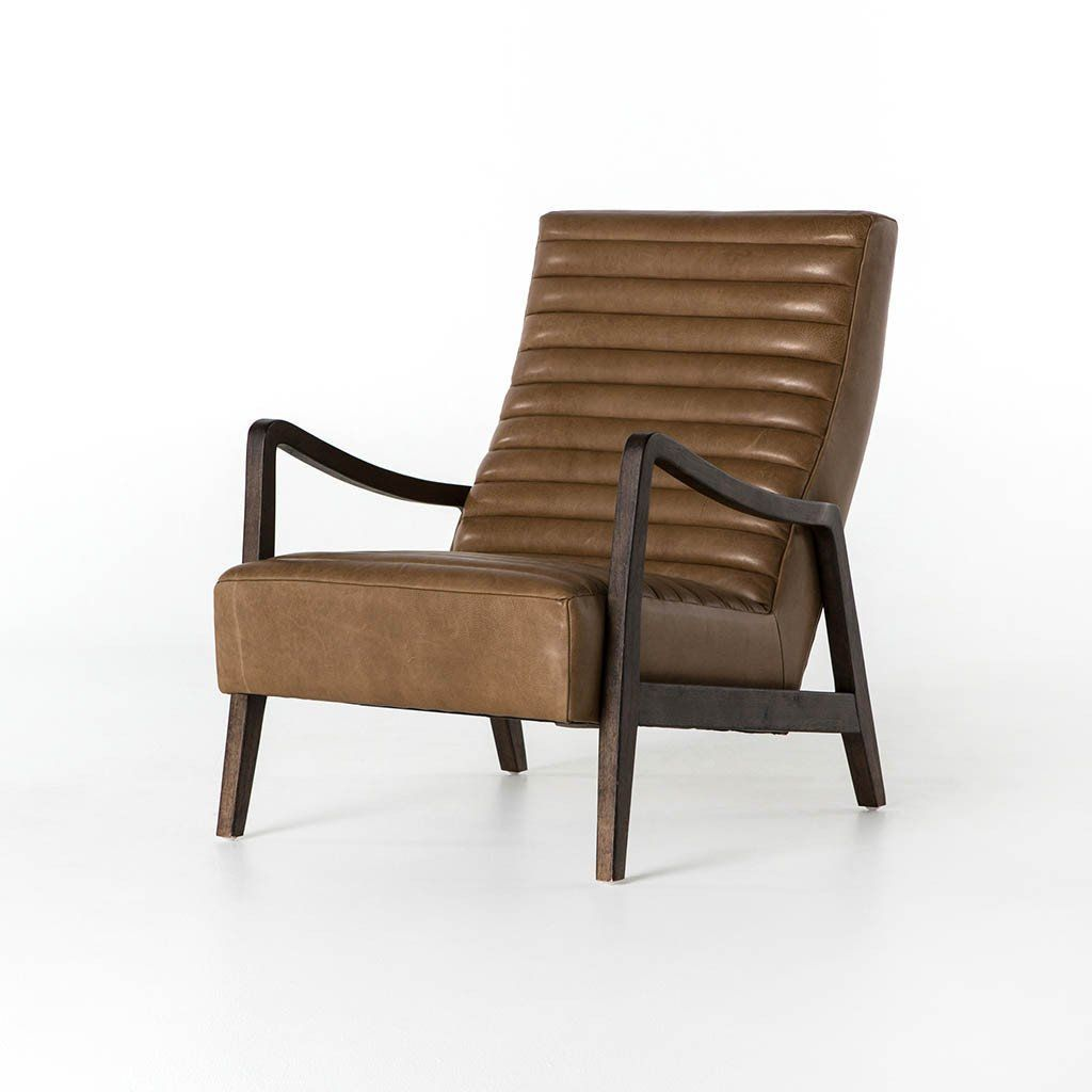 Best Chance Chair Warm Taupe Dakota Leather Lounge Chair 400 x 300