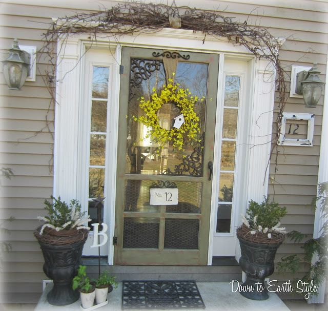 Signs Of Spring Outside Style Doors Porch Decorating Front