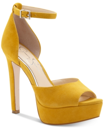 Jessica Simpson Beeya Two-Piece Platform Sandals, Created for Macy's & Reviews - Heels & Pumps - Shoes - Macy's 35