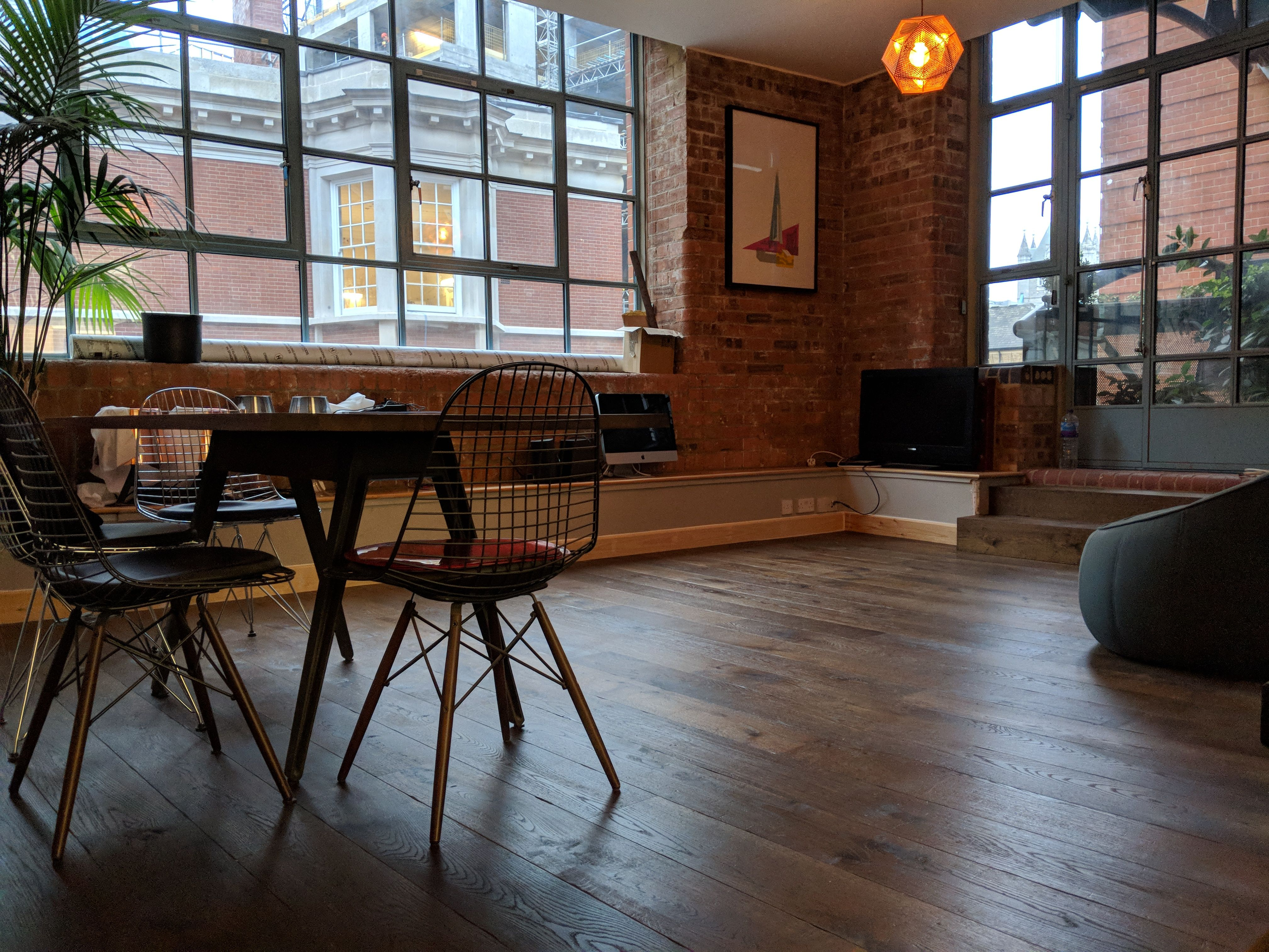 Dark Wood Flooring Is Ideal For A Traditional Look For This Project We Fitted A Dark Oak Wooden Floor In Wood Worktop Kitchen Flooring Engineered Wood Floors