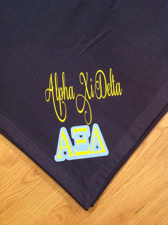 Alpha Xi Delta Sweatshirt Throw Blanket by unameitpersonalized