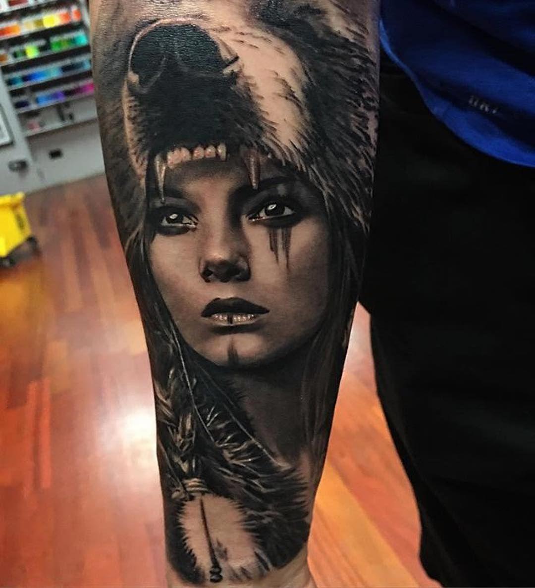 93e5750d6 Native American Bear Woman/Shaman | sick skin Art | American tattoos ...