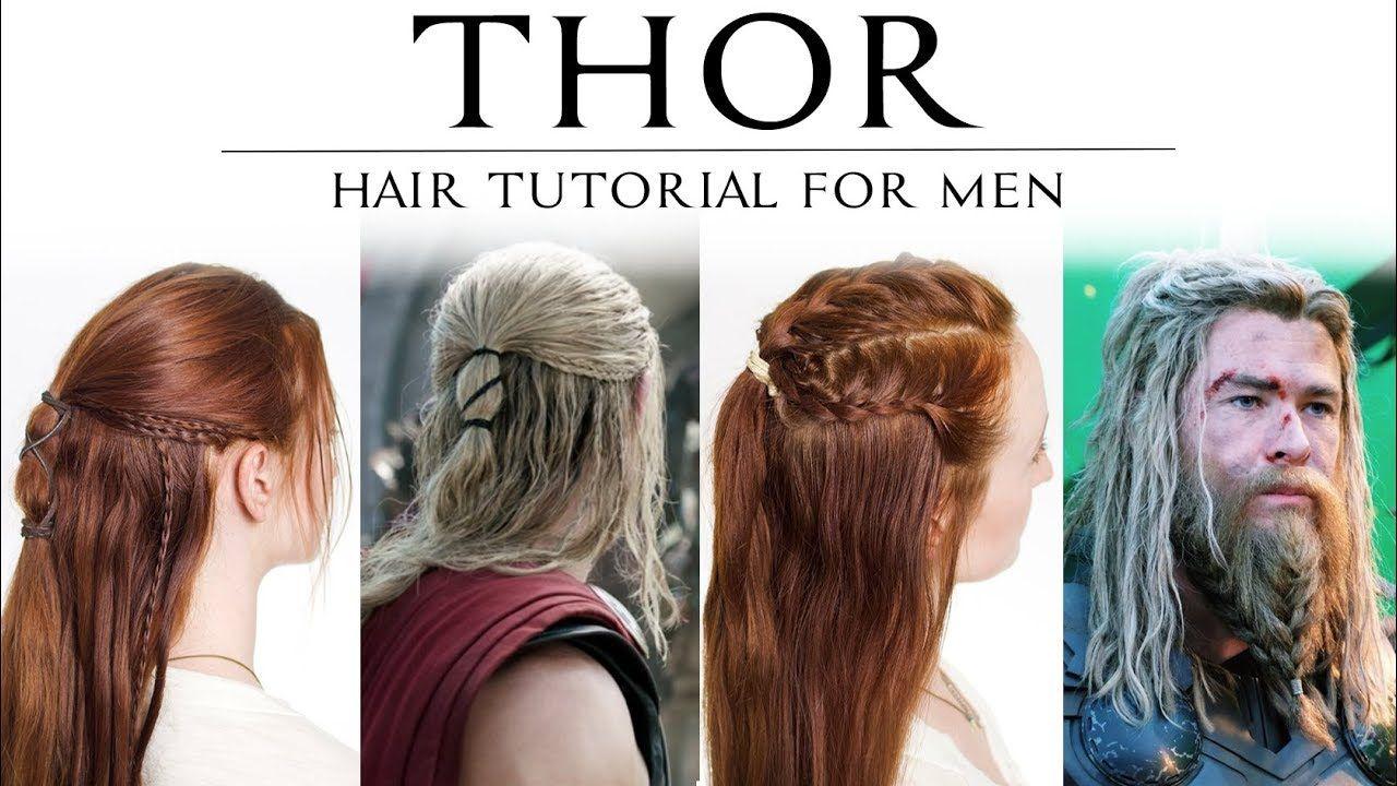 Hair Tutorial For Men Thor In Ragnarok Avenger S Endgame Youtube Hair Tutorial Hair Styles Easy Updos For Long Hair