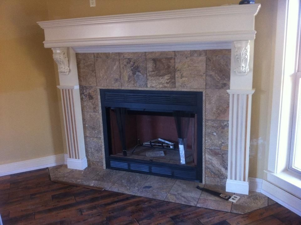 Tumbled stone fireplace surround - 7 Best Ideas About Fireplaces On Pinterest Slate Fireplace