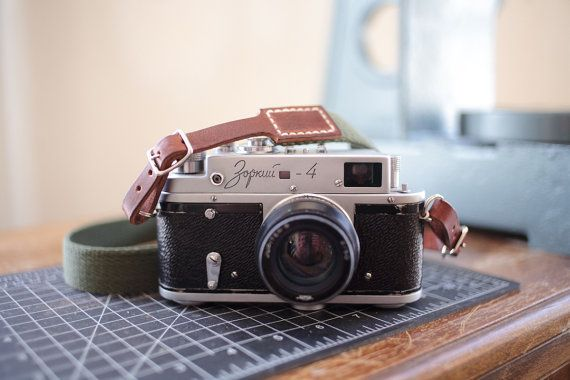Classic Camera Strap Brown Leather and Olive by northernstrap, $40.00