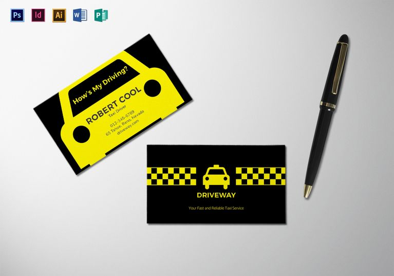 Taxi business card template taxi business cards and file size taxi business card template fbccfo Gallery
