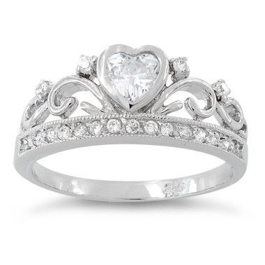 # SRZ226-DLJ Sterling Silver Heart Crown Clear CZ Ring – Charmed and Company CreationsCheck this out! http://www.charmedandcompanycreations.com?afmc=DiannaConnor5032