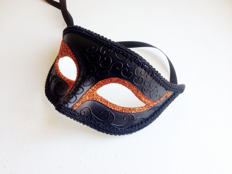 Mens Halloween Mask, Simple Mens Black Masquerade Mask, Venetian ...