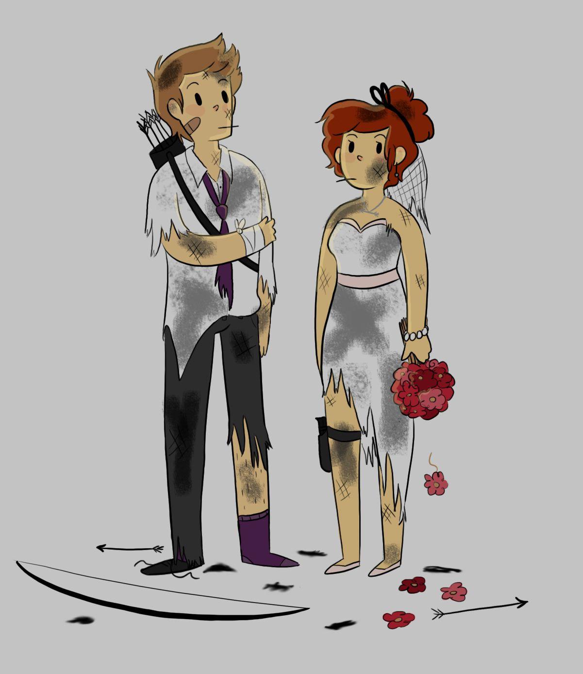 Natasha Romanoff And Clint Barton Fan Art