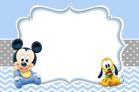 Mickey Mouse Baby Shower Invitations Template HB trinchudo - Free Online Baby Shower Invitations Templates