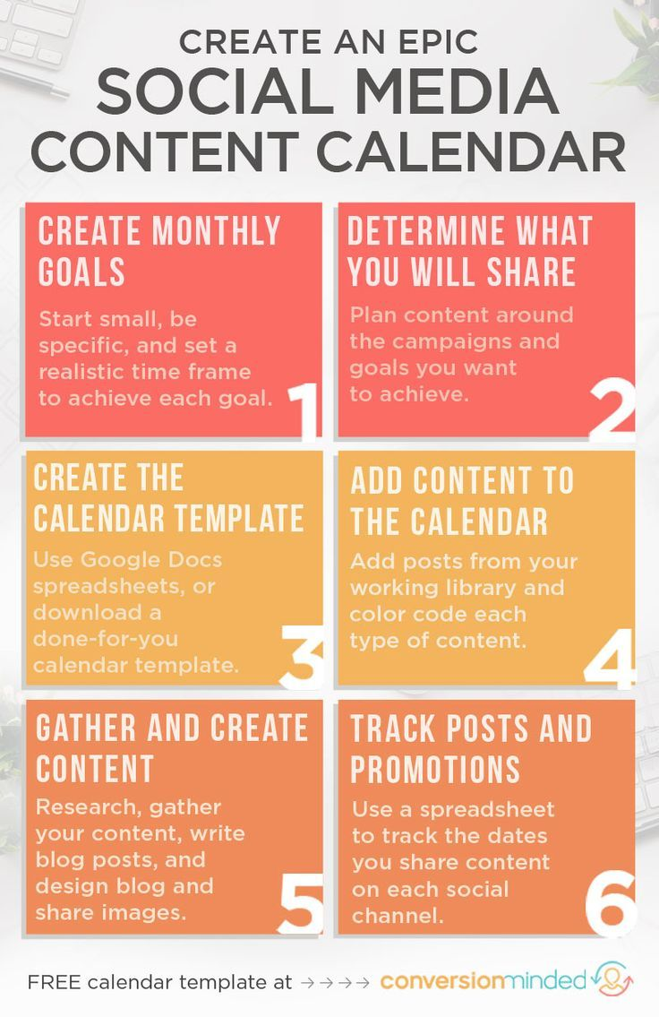 How To Create An Epic Content Calendar For With Template - Monthly social media calendar template