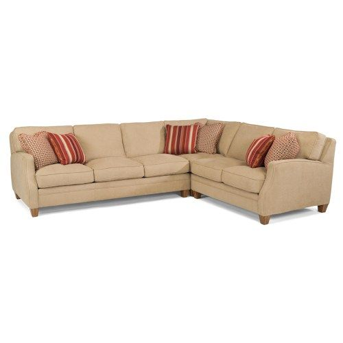 Flexsteel Lenox Three Piece Sectional Sofa with RAF Loveseat  sc 1 st  Pinterest : flexsteel sectional sofas - Sectionals, Sofas & Couches