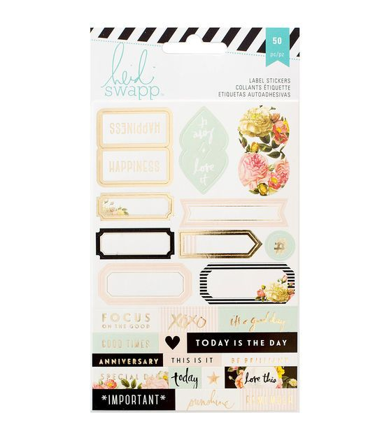 Heidi Swapp Memory Planner Labels 2 Sheets
