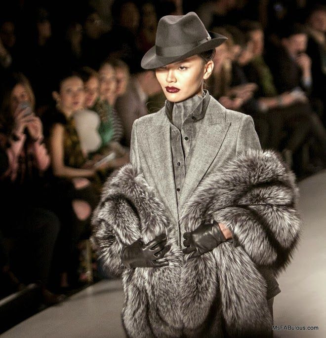 Elegant 1930's inspired runway from Zang Toi's Fall 2014 collection for #NYFW
