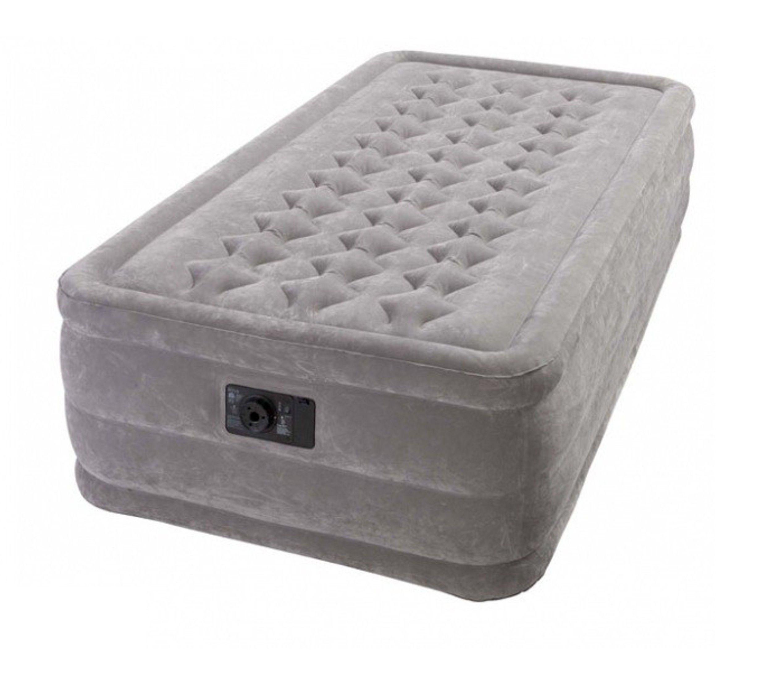 Matelas Gonflable Intex Ultra Plush 1 Personne La Sensation De Dormir Sur Un Vrai Lit Avec Ce Matelas Gonflable Ultra Confort Gonf