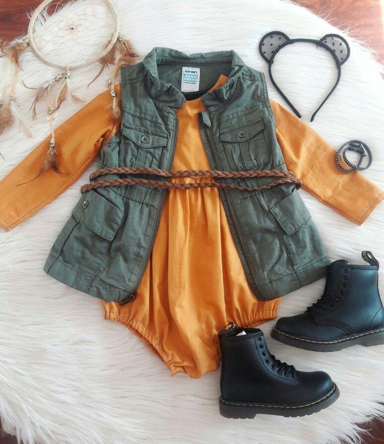 Baby toddler girl Autumn/fall outfit. Boho bohemian ...