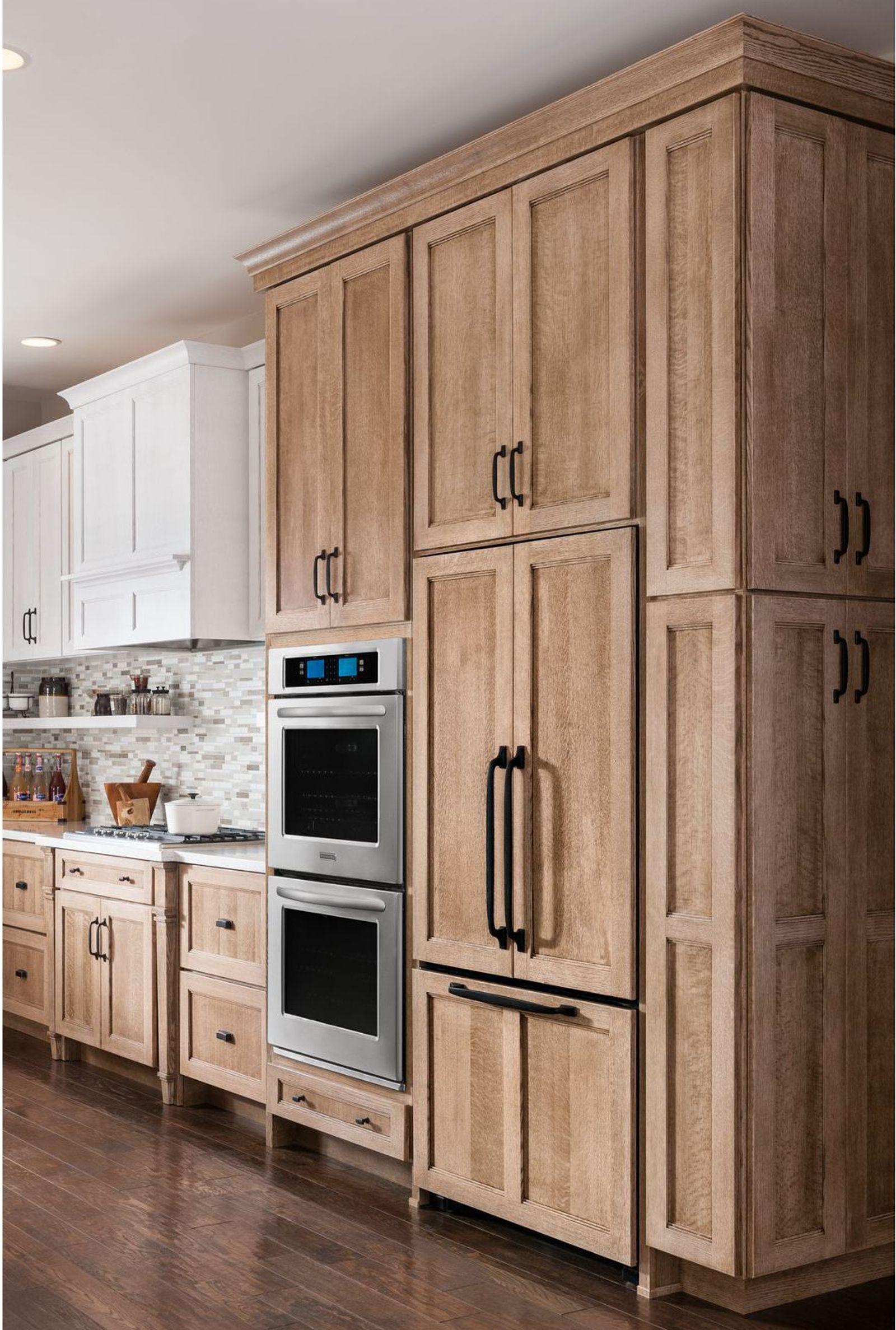 Kitchenaid Kfco22evbl 21 9 Cu Ft French Door Refrigerator W X2f Internal Water Dis Brown Kitchen Cabinets Dream Kitchen Cabinets Kitchen Cabinet Design