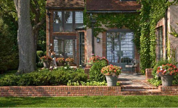 Garten Landschaftsbau mit Ziegeln u2013 15 tolle Gartengesteltung - gartengestaltung mit steinen und blumen