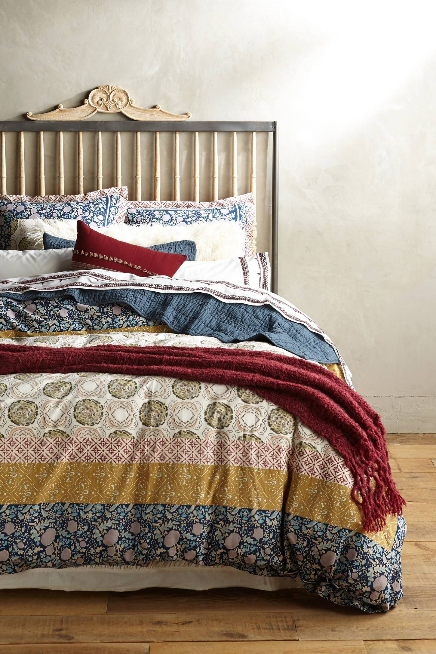 Anthropologie Ruched Hampshire Duvet Cover Products Bed Linens