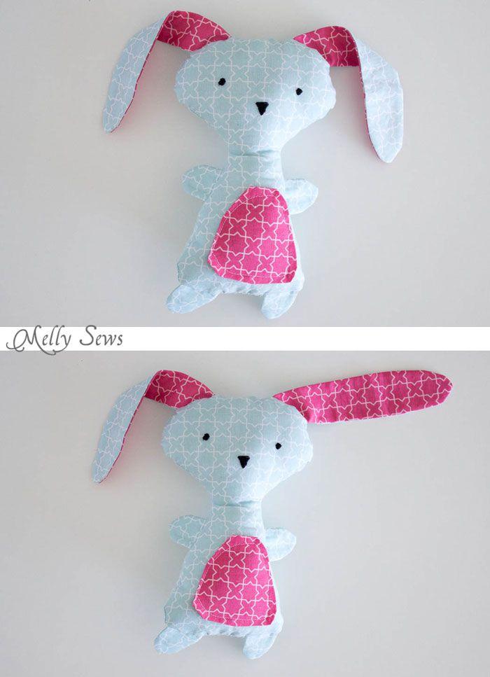 DIY Easter Bunny - Wonderland Fabrics   MUÑECOS   Pinterest   Pascua ...