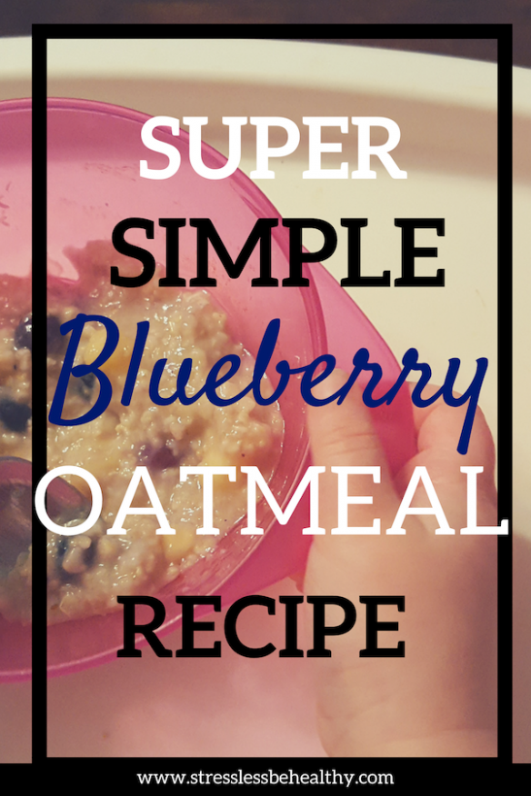 Want an easy vegan breakfast recipe thats super healthy? Try this blueberry oatmeal recipe; quick enough to make and eat on a school day morning!