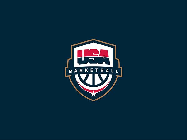 Usa Basketball Logo On Behance Basketball Logo Design Logo Basketball Usa Basketball