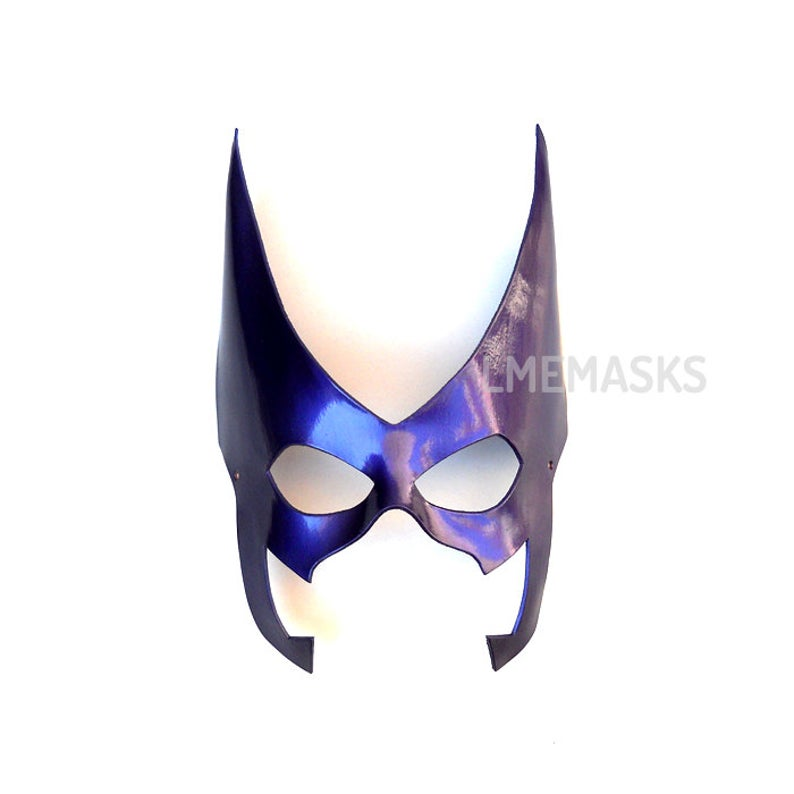 Huntress Leather Mask Violet Cosplay Purple Superhero