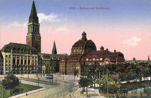kiel prussia | kiel rathaus und stadttheater kiel hochbrücke bei holtenau