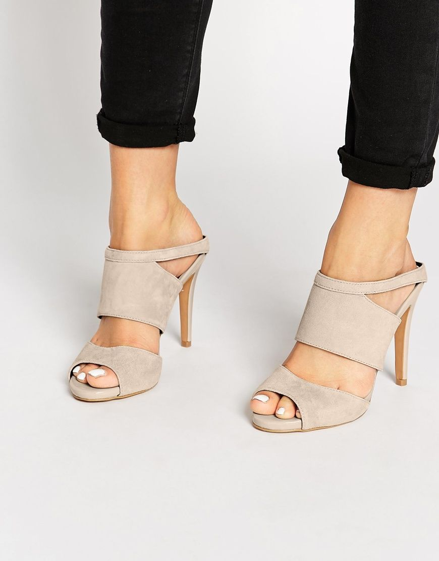 ALDO Ama Nude Suede Mule Heeled Sandals at asos.com