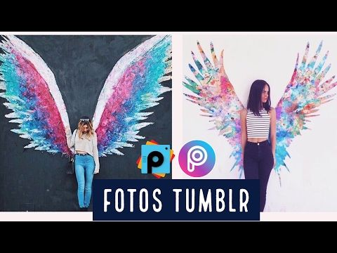 1 Como Hacer Fotos Estilo Tumblr Alas De Angel Picsart Tutorial