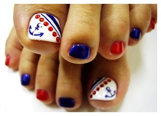 Toe Nail Designs For Beginners Toe Nail Designs Anchor Claws