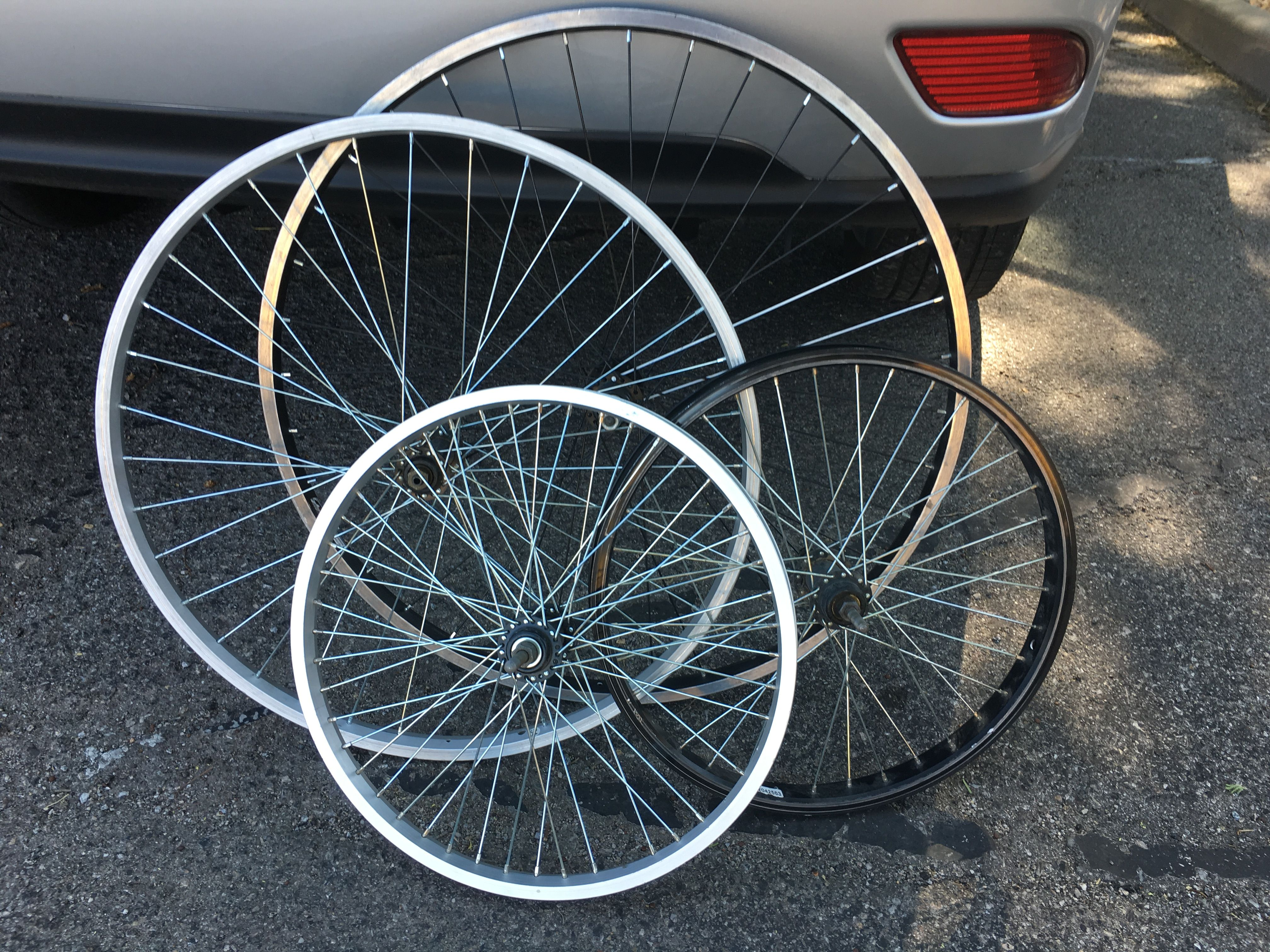 Bicycle Wheels Missing A Few Spokes Will Go Into The Wheel