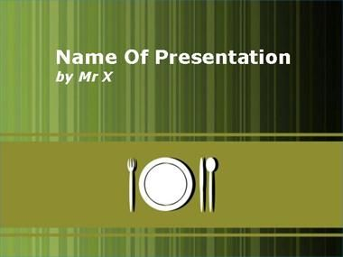 Lunch Table Powerpoint Template  Powerpoint    Lunch