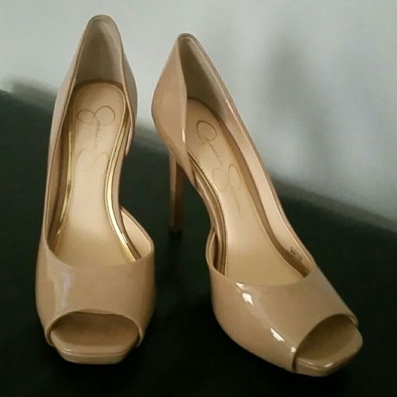 Jessica Simpson Shoes Tan Patten Leather. Jessica Simpson Shoes Heels