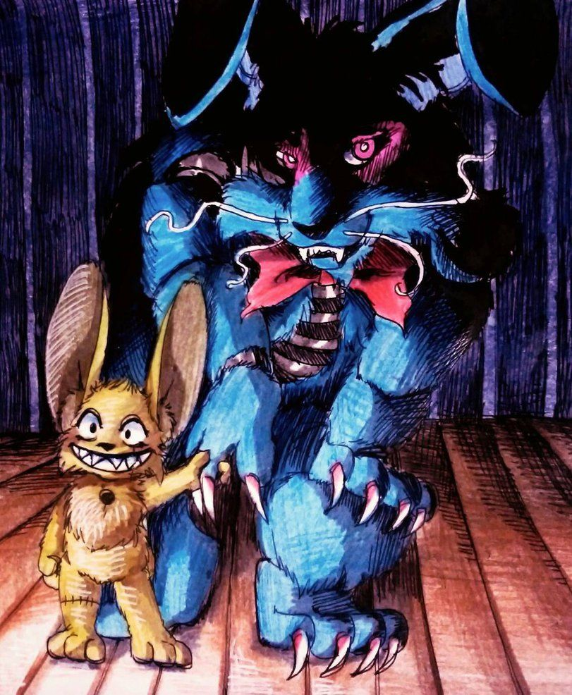 Plushtrap And Nightmare Bonnie Fnaf By Mizuki T Adeviantartcom On