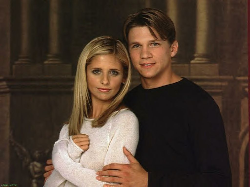 Riley and Buffy. He got boring quick, and I never really liked them  together, but they do count as a relationship that Whedon d… | Buffy style,  Buffy, Buffy summers