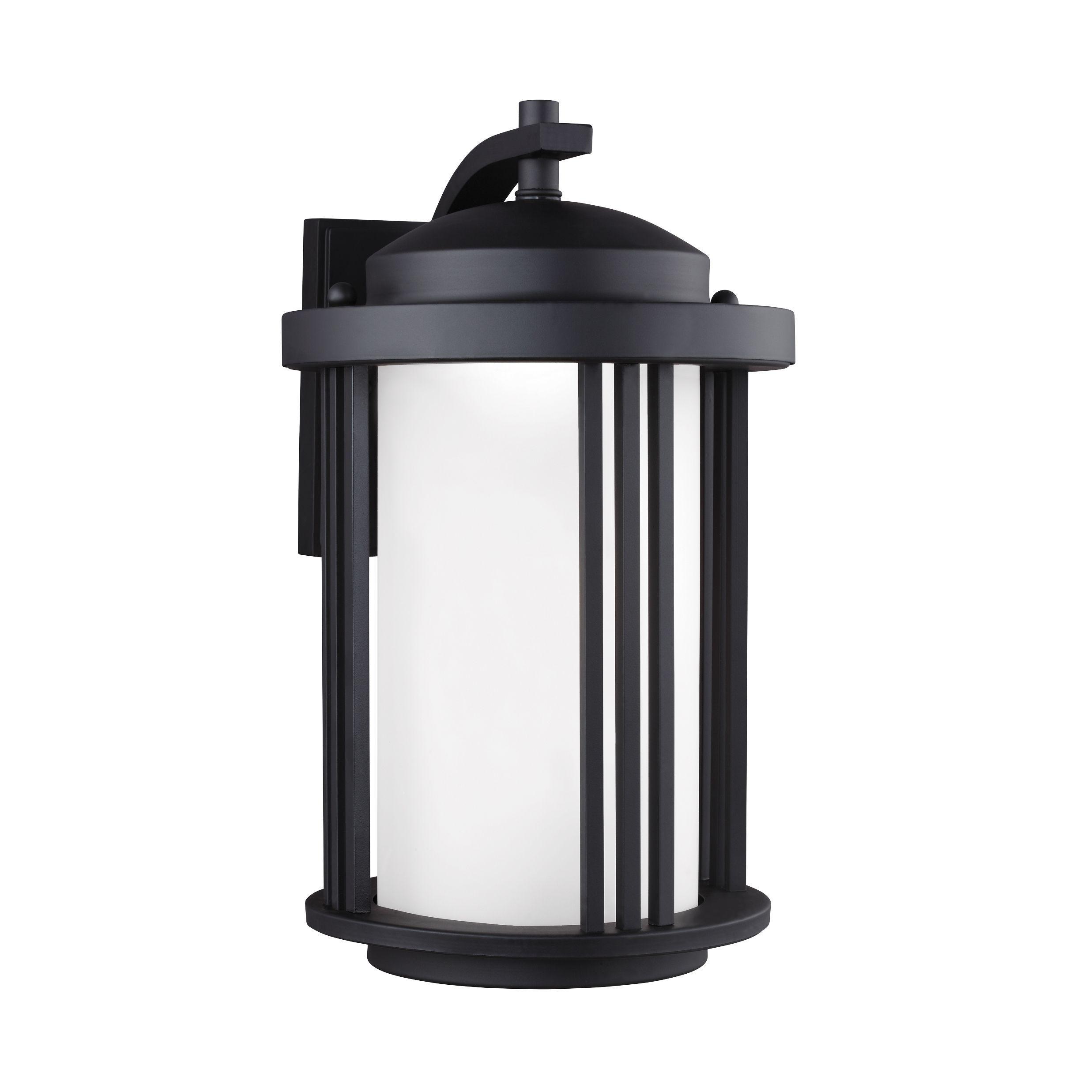 Sea gull crowell led light black outdoor fixture medium led outdoor