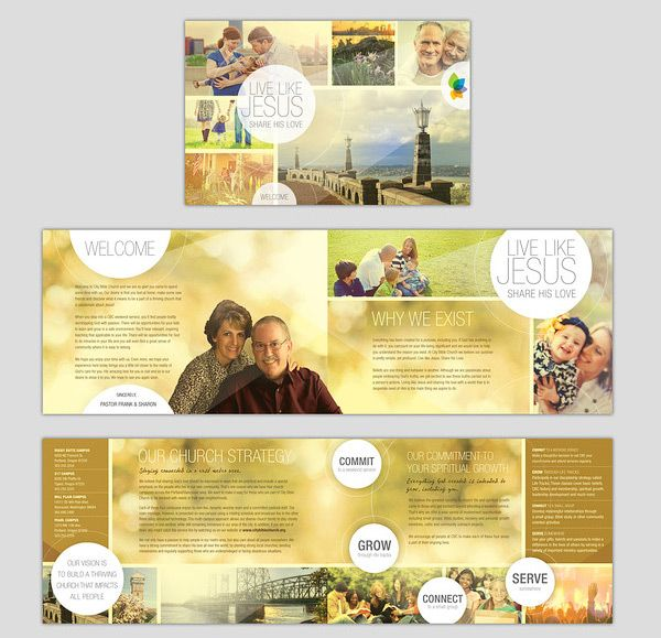 How to make a church brochure 3 reference pinterest for Church brochure ideas